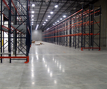 Interlake Mecalex Pallet Racking with end of Rack Guards