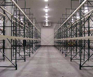 Used Structural Pallet Racking in Freezer