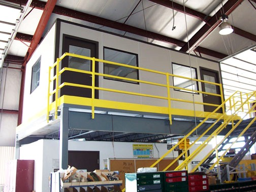 Panel Built in-plant office on top of mezzanine