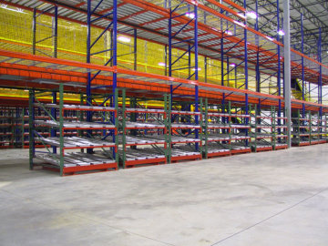 Pallet Racking with custom fork-liftable Flow Modules