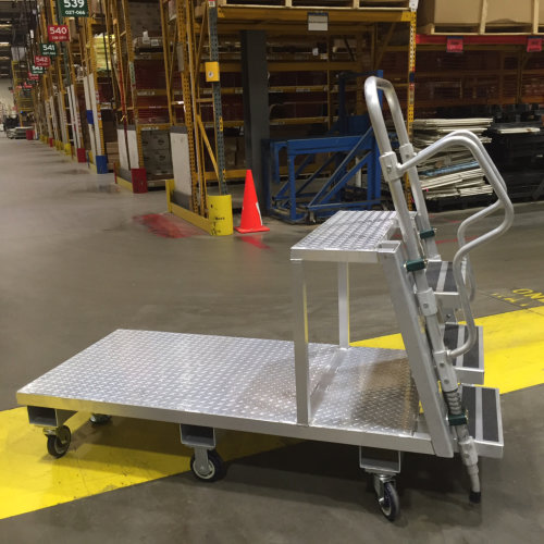 Aluminum, Custom Deck Cart with Ladder