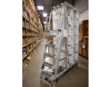 Aluminum Custom Pick Cart with Ladder and Speedcell Cubbies